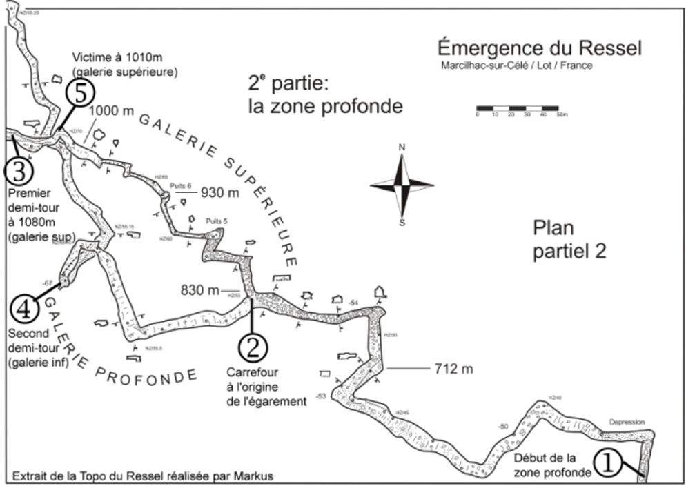 Analyse accident du Ressel - Plan zone profonde