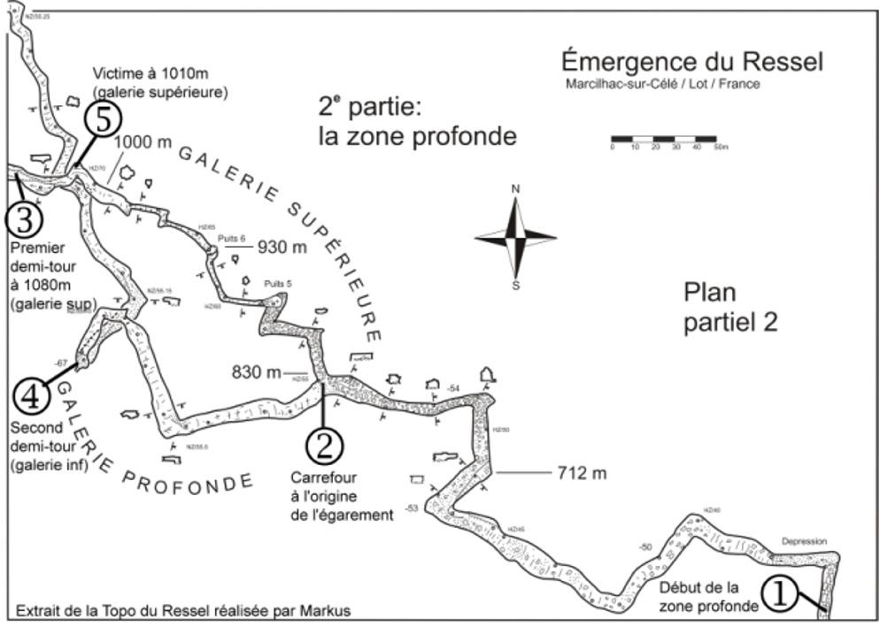 Analyse accident du Ressel - Plan zone profonde